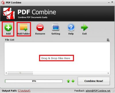 Merge PDF Files into One Document step 1