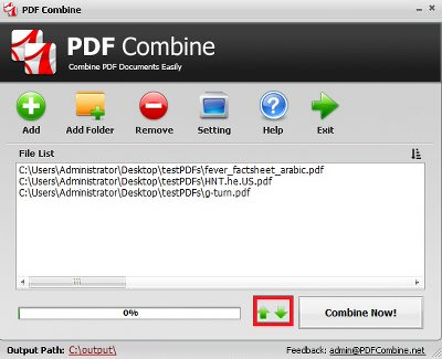 Merge PDF Files into One Document step 2