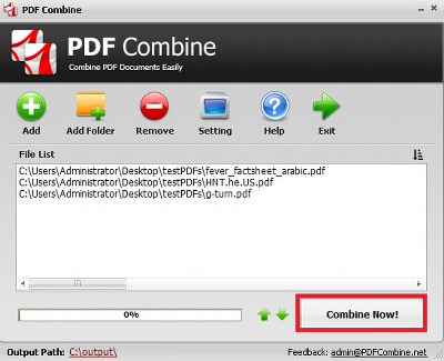 Merge PDF Files into One Document step 3
