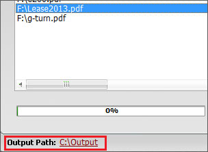 Select the output path